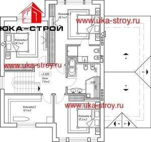 ПРОЕКТ КИРПИЧНОГО ДОМА 231 М²