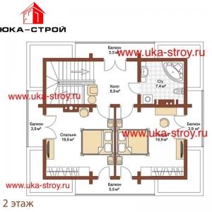 ПРОЕКТ ДЕРЕВЯННОГО ДОМА 123 М² + 33 М²
