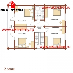 ПРОЕКТ ДЕРЕВЯННОГО ДОМА 194 М² + 42 М²