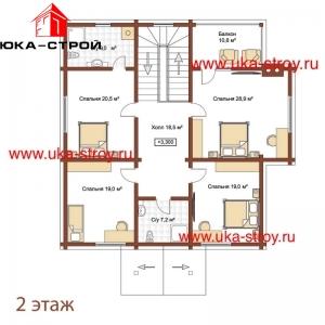 ПРОЕКТ ДЕРЕВЯННОГО ДОМА 255 М² + 31 М²