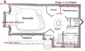 Проект бассейна площадью 384 м²