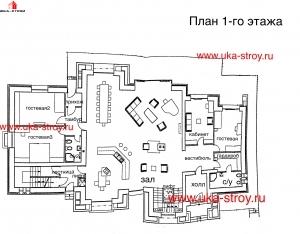 Проект кирпичного дома 1006 М²