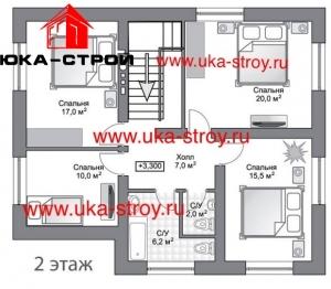 ПРОЕКТ КИРПИЧНОГО ДОМА 171 М²