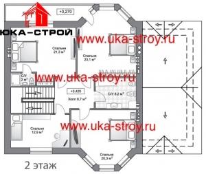 ПРОЕКТ КИРПИЧНОГО ДОМА 241 М²