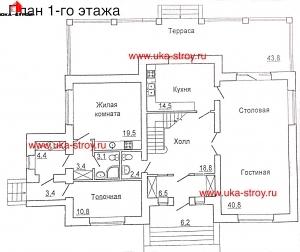 ПРОЕКТ КИРПИЧНОГО ДОМА 303.6 М²