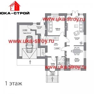ПРОЕКТ КИРПИЧНОГО ДОМА 328 М²